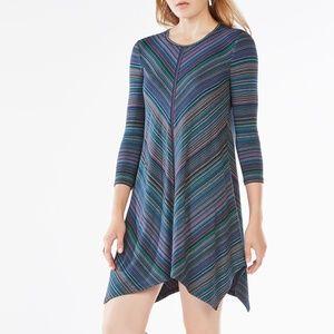 Striped Jersey Dress BCBG Mid-Length